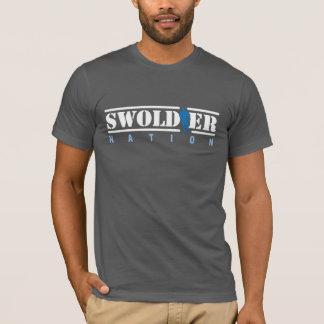 灰色のSwoldierの国家のTシャツ Tシャツ