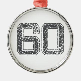 灰色はジャージー#60を遊ばします シルバーカラー丸型オーナメント