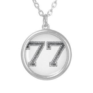 灰色はジャージー#77を遊ばします シルバープレートネックレス