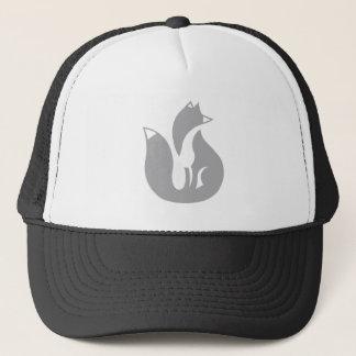 灰色キツネのトラック運転手の帽子 キャップ