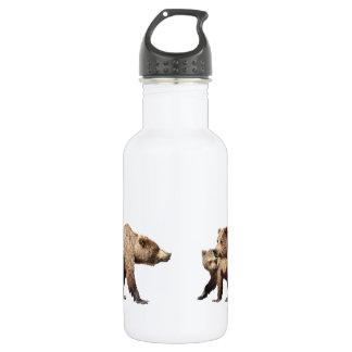 灰色グマが付いている水差し(18のoz)、 ウォーターボトル