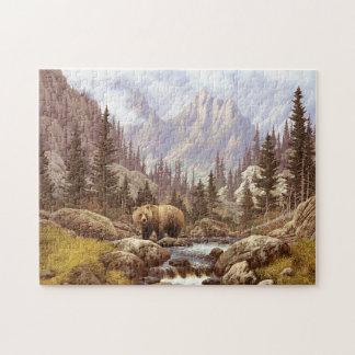 灰色グマの景色のパズル ジグソーパズル