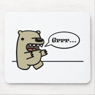 灰色グマ マウスパッド