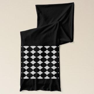 灰色パターン スカーフ