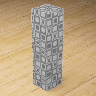 灰色パターン ワインギフトボックス
