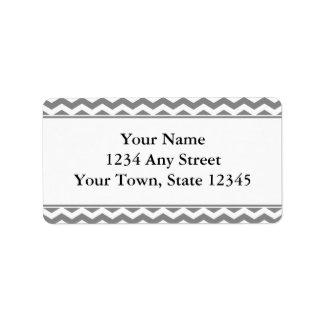 灰色及び白いシェブロンの封筒の宛名ラベル ラベル
