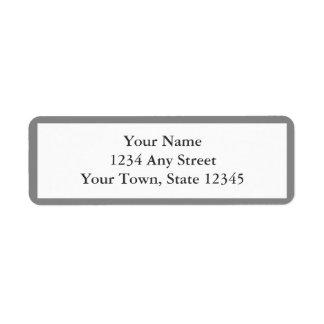 灰色及び白い封筒の差出人住所ラベル ラベル
