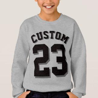灰色及び黒い子供 のスポーツジャージー スウェットシャツ