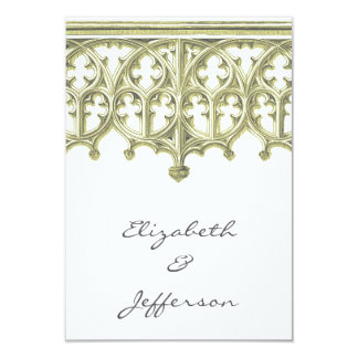 灰色及びRSVPを結婚するButtercreamのカテドラル カード
