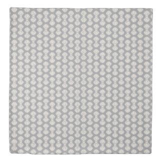 灰色帆立貝貝およびクリーム色の羽毛布団カバー 掛け布団カバー