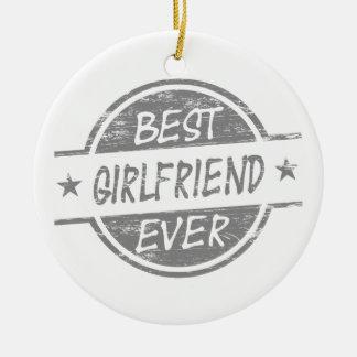 灰色最も最高のなガールフレンド セラミックオーナメント