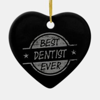 灰色最も最高のな歯科医 セラミックオーナメント