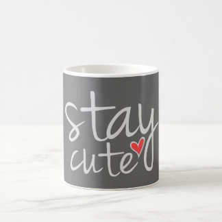 灰色滞在のかわいいマグ コーヒーマグカップ