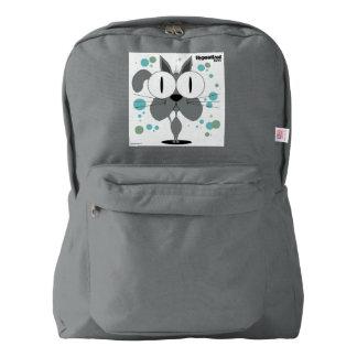 灰色猫のバックパック、煙 AMERICAN APPAREL™バックパック