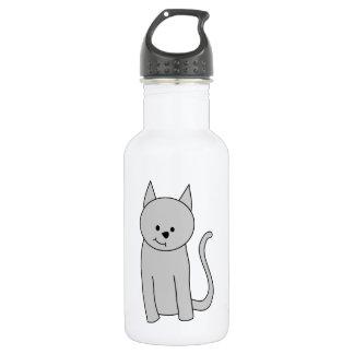 灰色猫の漫画 ウォーターボトル