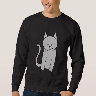 灰色猫の漫画 スウェットシャツ