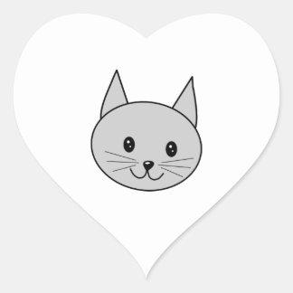 灰色猫の漫画 ハートシール