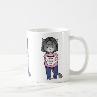 灰色猫はコーヒー・マグを必要とします コーヒーマグカップ