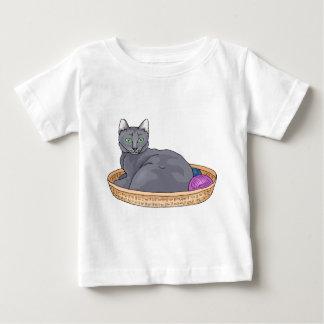 灰色猫2 ベビーTシャツ