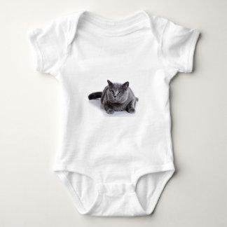 灰色猫 ベビーボディスーツ