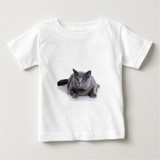 灰色猫 ベビーTシャツ