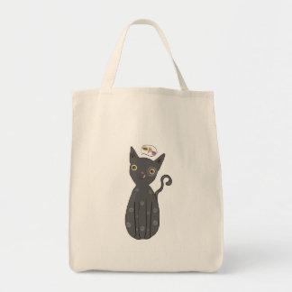 灰色猫、猫、子猫、子ネコ、お洒落な猫 トートバッグ