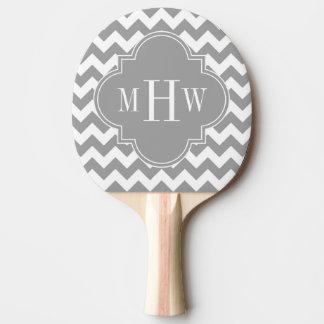 灰色白いシェブロンDkの灰色のクローバー3のモノグラム 卓球ラケット