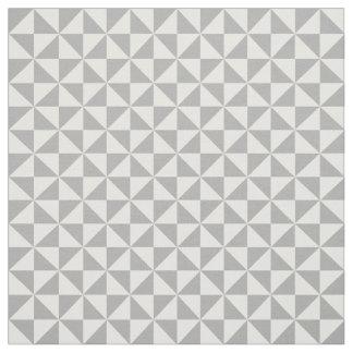 灰色白のモダンな三角形パターン生地 ファブリック
