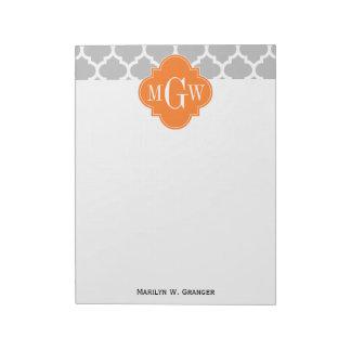 灰色白のモロッコ#5カボチャ3最初のモノグラム ノートパッド