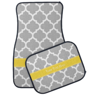 灰色白のモロッコ#5パイナップル名前のモノグラム カーマット