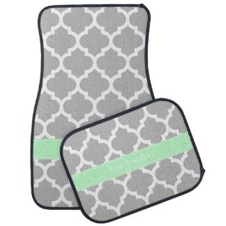 灰色白のモロッコ#5真新しい一流のモノグラム カーマット