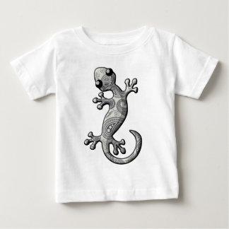 灰色白の登山のヤモリのトカゲ ベビーTシャツ