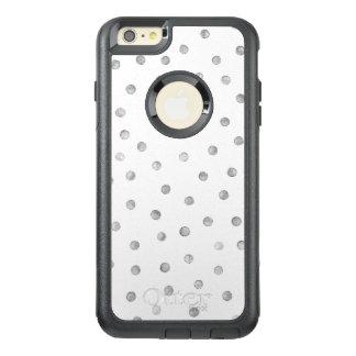 灰色白の紙吹雪のドット・パターン オッターボックスiPhone 6/6S PLUSケース
