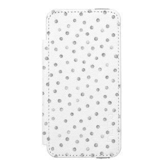 灰色白の紙吹雪のドット・パターン INCIPIO WATSON™ iPhone 5 ウォレット ケース