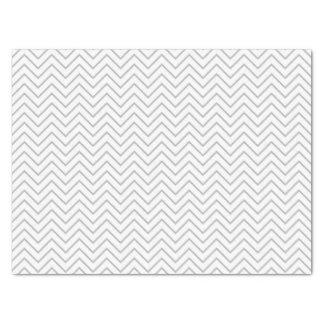 灰色白シェブロン 薄葉紙