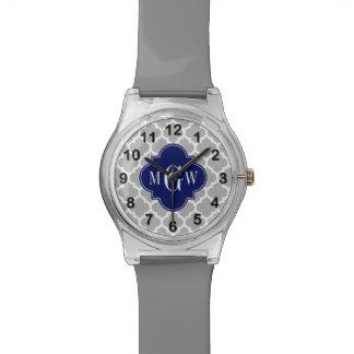 灰色白モロッコ#5海軍3最初のモノグラム 腕時計
