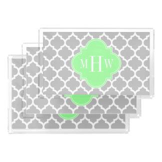 灰色白モロッコ#5真新しいGrn 3の最初のモノグラム アクリルトレー