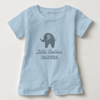 灰色象の弟の赤ん坊のロンパースのボディスーツ ベビーロンパース