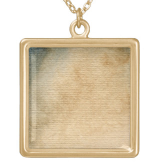 灰色青い背景の水彩画7 ゴールドプレートネックレス