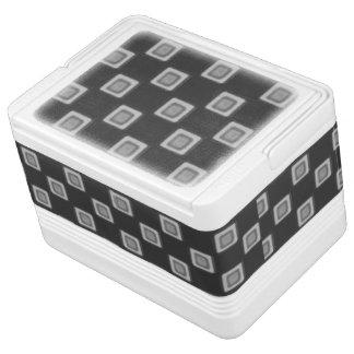 灰色12のクーラーボックスのチェッカーボード IGLOOクーラーボックス