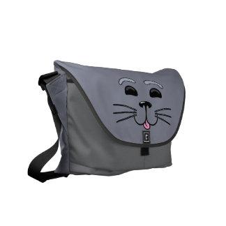 灰色|シール|-|かわいい|グラフィック|メッセンジャー|袋