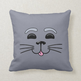 灰色 シール - かわいい 漫画 枕