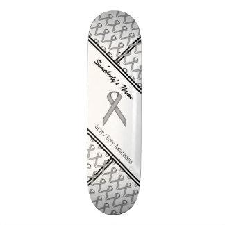 灰色/灰色標準的なリボン 19.7CM スケートボードデッキ
