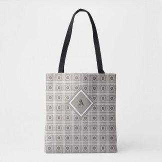 灰色、白く、および黒くパターン(の模様が)あるなトートバック トートバッグ