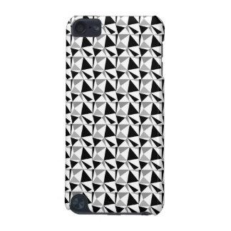 灰色、白黒モダンで幾何学的なパターン iPod TOUCH 5G ケース