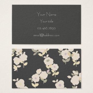 灰色、花の名刺 名刺