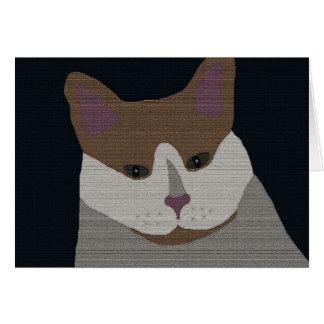 灰色、茶色、白い猫 カード