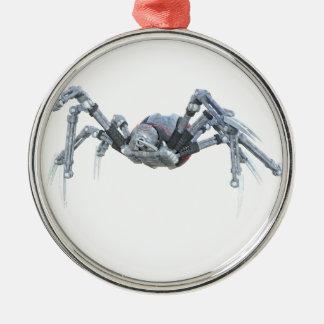 灰色、赤および銀のロボットくも メタルオーナメント