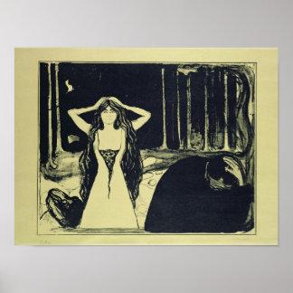灰(秋後で)、1899年 ポスター