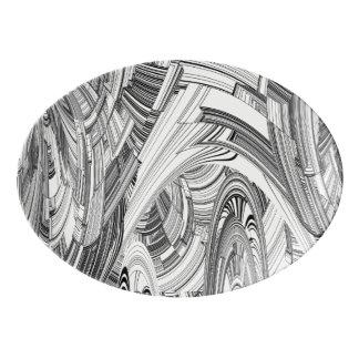 災害 磁器大皿
